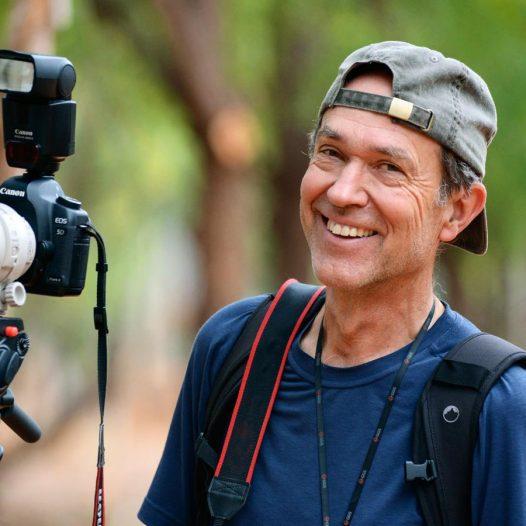 Konrad Wothe mit Kamera