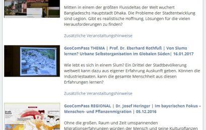 GeoComPass LIVE und GeoComPass VIDEO: Neu gestaltete GeoComPass-Mediathek ist jetzt online