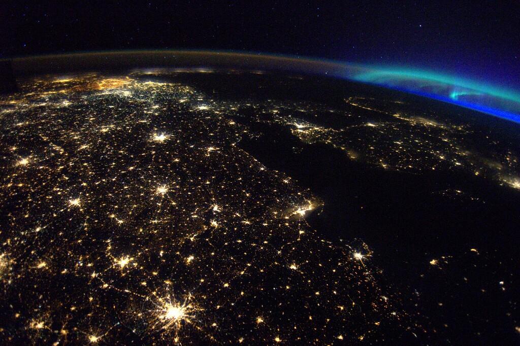 Blick aus dem All auf die Erde